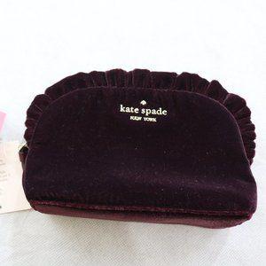 NWT Kate Spade Small Ruffle Cosmetic Travel Bag